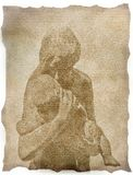 Illustrazione della madre e del bambino Immagine Stock Libera da Diritti