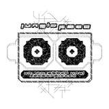 Illustrazione della maglietta di musica della giungla Immagine Stock Libera da Diritti
