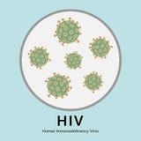 Illustrazione della malattia di virus di HIV nel vassoio di prova, medica Immagine Stock