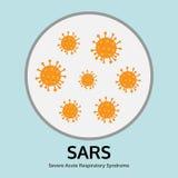 illustrazione della malattia di virus di SAR nel vassoio di prova, medica Immagine Stock Libera da Diritti