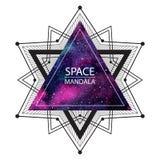 Illustrazione della mandala dello spazio o fondo cosmico royalty illustrazione gratis