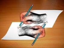 Illustrazione della mano Immagini Stock