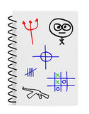 Illustrazione della mano dei ragazzi durante il codice categoria Immagine Stock