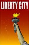 Illustrazione della mano del monumento di signora di libertà Immagini Stock Libere da Diritti
