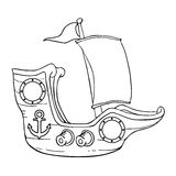 Illustrazione della mano della nave Fotografia Stock