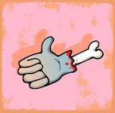 Illustrazione della mano di simbolo di Halloween, icona di vettore Immagine Stock Libera da Diritti