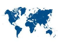 Illustrazione della mappa blu Immagini Stock