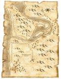 Illustrazione della mappa del tesoro del pirata Fotografia Stock Libera da Diritti