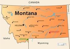 Mappa del Montana Fotografia Stock