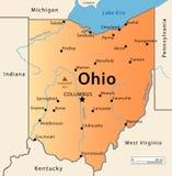 Mappa dell'Ohio Fotografia Stock Libera da Diritti
