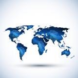 Illustrazione della mappa di mondo del triangolo Immagine Stock Libera da Diritti