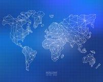 Illustrazione della mappa di mondo di vettore Fotografia Stock Libera da Diritti