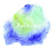Illustrazione della mappa di vettore della Bielorussia Fotografia Stock Libera da Diritti