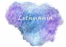 Illustrazione della mappa di vettore della Lituania Fotografia Stock