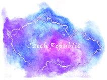 Illustrazione della mappa di vettore della repubblica Ceca Immagini Stock