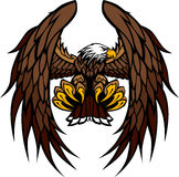 Illustrazione della mascotte delle ali e delle branche dell'aquila illustrazione di stock