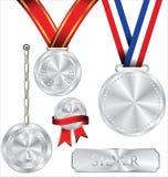 Illustrazione della medaglia d'argento Fotografia Stock