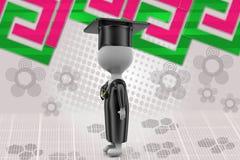 illustrazione della medaglia di graduazione dell'uomo 3d Fotografia Stock Libera da Diritti