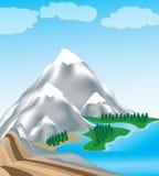 Illustrazione della montagna Immagini Stock Libere da Diritti