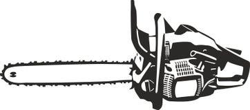 Illustrazione della motosega isolata Fotografia Stock Libera da Diritti
