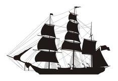 Illustrazione della nave Fotografie Stock Libere da Diritti