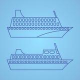 Illustrazione della nave passeggeri Fotografia Stock