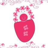 Illustrazione della neonata - vettore Fotografia Stock