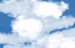 Illustrazione della nuvola con cielo blu Nubi bianche immagine stock