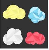 Illustrazione della nuvola del triangolo Fotografia Stock