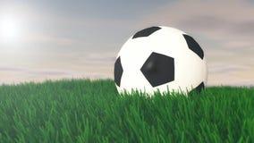 Illustrazione della palla di calcio Immagini Stock