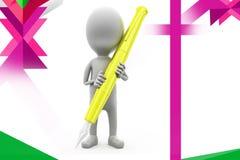 illustrazione della penna dell'uomo 3D Fotografie Stock