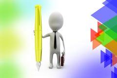 illustrazione della penna dell'uomo di affari 3d Immagini Stock Libere da Diritti