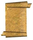 Illustrazione della pergamena rotolata grunge dell'annata Fotografia Stock
