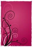 Illustrazione della pianta a spirale su priorità bassa rossa. Arte di vettore Fotografie Stock