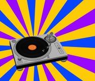 Illustrazione della piattaforma girevole del DJ Immagine Stock