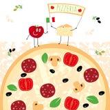 Illustrazione della pizza Fotografia Stock Libera da Diritti