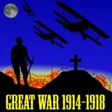 Illustrazione della prima guerra mondiale (la grande guerra) Fotografia Stock Libera da Diritti