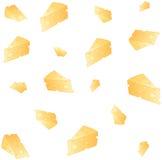 Illustrazione della priorità bassa del formaggio Fotografie Stock Libere da Diritti