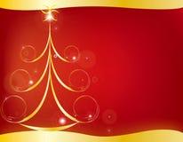 Illustrazione della priorità bassa del regalo della cartolina di Natale Fotografie Stock Libere da Diritti