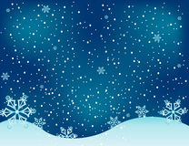 Illustrazione della priorità bassa del regalo della cartolina di Natale Immagini Stock