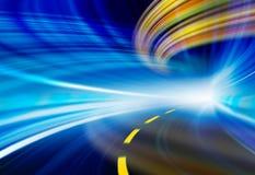 Illustrazione della priorità bassa di tecnologia, velocità astratta Fotografia Stock