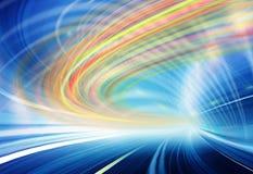 Illustrazione della priorità bassa di tecnologia, velocità astratta Immagine Stock Libera da Diritti