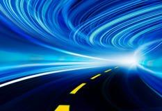 Illustrazione della priorità bassa di tecnologia, velocità astratta Immagini Stock