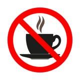 Illustrazione della proibizione calda della bevanda Il pericolo di rovesciamento illustrazione di stock