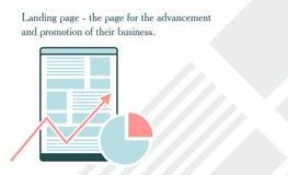 Illustrazione della promozione del sito Web Fotografia Stock Libera da Diritti