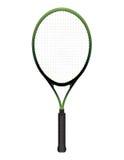 Illustrazione della racchetta di tennis isolata su bianco Fotografia Stock