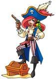 Illustrazione della ragazza del pirata Fotografia Stock