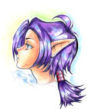 Illustrazione della ragazza dell'elfo Immagine Stock