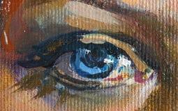 Illustrazione della ragazza, frammento, pittura Immagini Stock Libere da Diritti