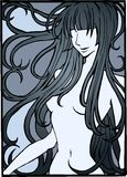 Illustrazione della ragazza nuda Fotografia Stock Libera da Diritti